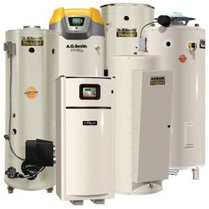our team can install any brand or model of water heaters like these A.O. Smith ones